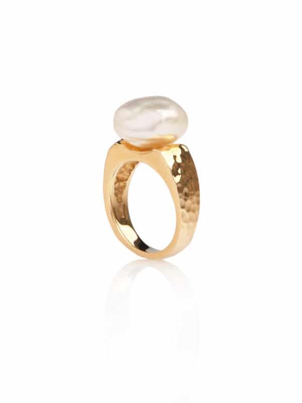 South Sea Keshi Pearl Ring