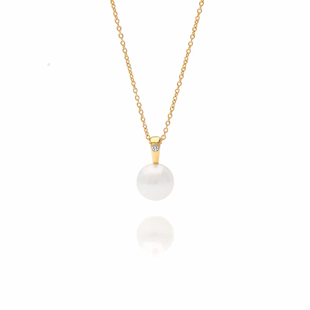 South Sea Pearl Cocos Diamond Pendant